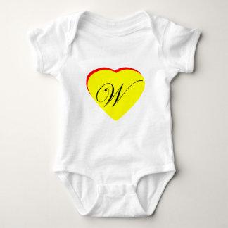 För W-bröllop för hjärta gul röd inbjudan MUSEET Z T-shirt