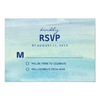 För /Wedding för vattenfärghavOSA kort svar 8,9 X 12,7 Cm Inbjudningskort