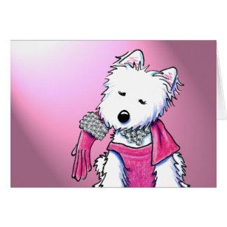 för Westie för 80-tal Glam kort Terrier