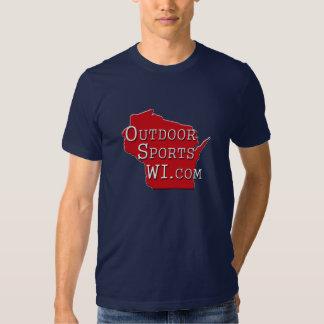 För Wisconsin för utomhus- sportar manar för Tee Shirts