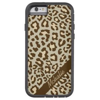 För Xtreme för persika för Leopardbruntsolbränna Tough Xtreme iPhone 6 Fodral