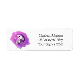 för yang för lilastänkyin adress volleyboll returadress etikett