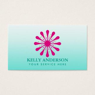 För YogaSpa för elegant lotusblomma blom- terapeut Visitkort