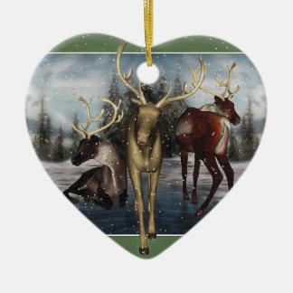 För Yule för ren glad prydnad för hjärta personlig Hjärtformad Julgransprydnad I Keramik