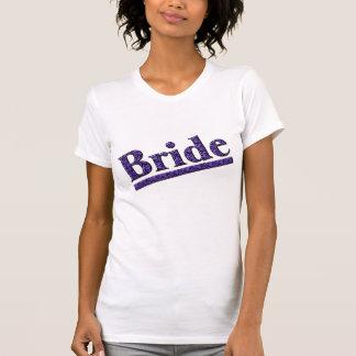 För zebra tryckbröllopsfest T för brud T-shirts