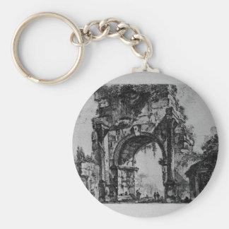 Fora av Augustus av Giovanni Battista Piranesi Rund Nyckelring
