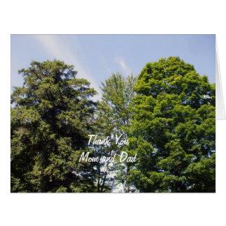 Föräldrar Studenten Tacka Du-Två Träd Jumbo Kort