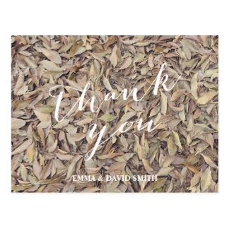 Förälskad höst löv för nedgång som gifta sig tack vykort