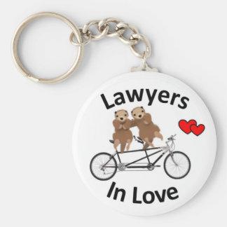 Förälskade advokater - uttrar rund nyckelring