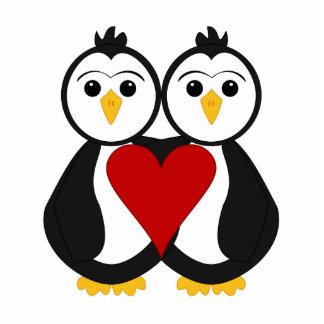 Förälskade gulliga pingvin acrylic cut out