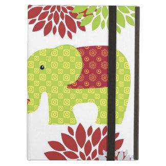 Förälskade hållande stamblommor för nätt elefanter iPad air skal