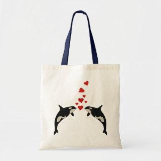 Förälskade Orcas Budget Tygkasse