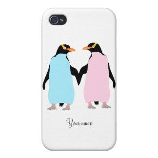 Förälskade pingvin iPhone 4 cover