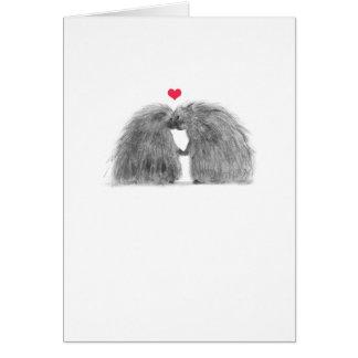Förälskat årsdagkort för Porcupines Hälsningskort