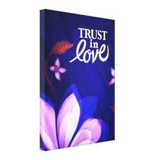 Förälskat förtroende - konst på kanfas canvastryck