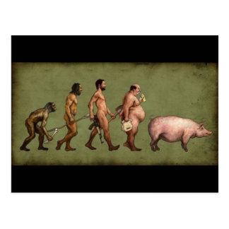 Förändrad evolution vykort