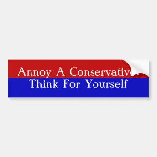Förarga en konservativ: Tänk för dig Bildekal