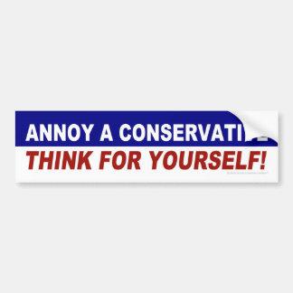 Förarga en konservativ -- Tänk för dig! Bildekal
