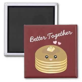 Förbättra tillsammans gulligt pannkakasmör roliga magnet
