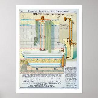 Förbättrade bad och duschar från en katalog av san poster