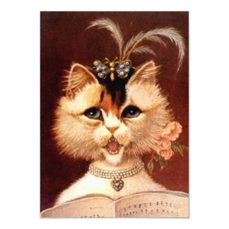 Förbigå att sjunga för katt för mottagningsrum för 11,4 x 15,9 cm inbjudningskort