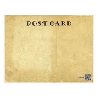 Förbigå lantligt antikt åldrigt nedfläckadt vykort