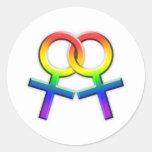 Förbindelsekvinnliga symbolklistermärkear 02 för runda klistermärken