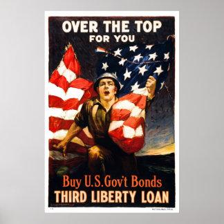 Förbindelser för köpU.S.-krig, över det bästa som  Affischer