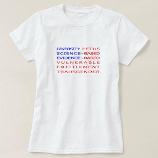 Förbjuden ord för amerikanska flaggan CDC T Shirts