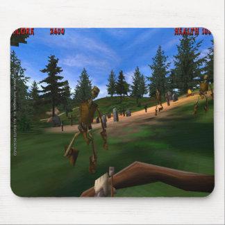 Förbjuden skog 3 Retro Mousepad Mus Mattor