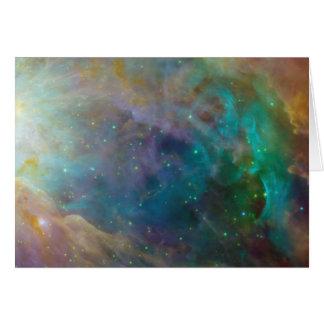 Förbluffa färger i Orion Hälsningskort