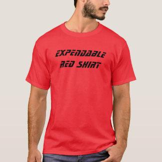 Förbruknings- röd skjorta tee shirts