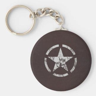 Förbunden vintage för US-vitstjärna Nyckelring