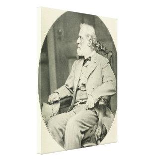 FörbundsmedlemGeneral Robert E. Lee Sitta i stol Canvastryck
