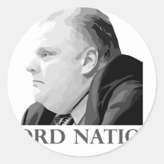 Ford nation runt klistermärke