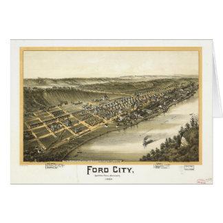Ford stad Pennsylvania (1896) Hälsningskort