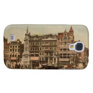 Fördämningen kvadrerar, Amsterdam, Nederländerna Galaxy S4 Fodral