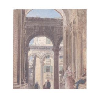 Fördärvar av Diocletian på Spalato av Rudolf von Anteckningsblock