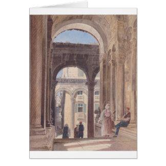 Fördärvar av Diocletian på Spalato av Rudolf von Hälsningskort