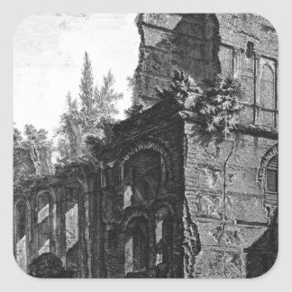 Fördärvar av en av kammare`-soldaterna på en fyrkantigt klistermärke
