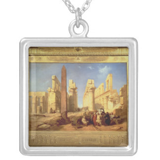 Fördärvar av slotten av Karnak på Thebes Silverpläterat Halsband