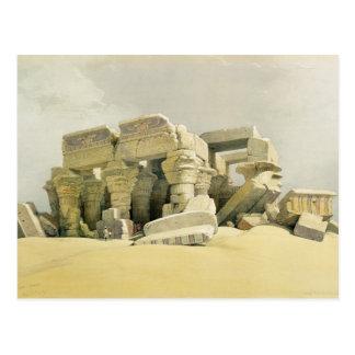 """Fördärvar av tempelet av Kom Ombo, från """"egypten Vykort"""