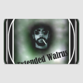 Fördjupad valross rektangulärt klistermärke