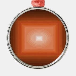 Fördjupat i den orange modern konstdesignen julgransprydnad metall