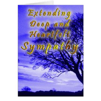 Fördjupning av djup och uppriktig sympati hälsningskort