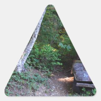 Fordon av förflutnan triangelformat klistermärke