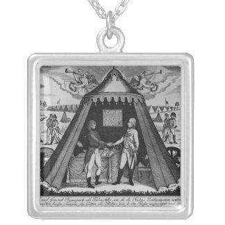 Fördrag av Campo Formio, 18th Oktober 1797 Silverpläterat Halsband