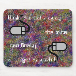 Fördriva katt away… Mousepad Musmatta