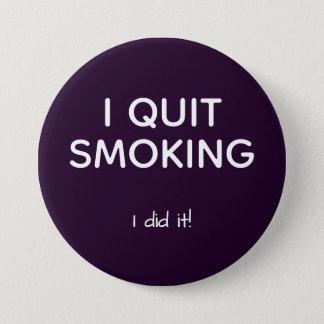 före dettarökaren avslutade att röka mellanstor knapp rund 7.6 cm
