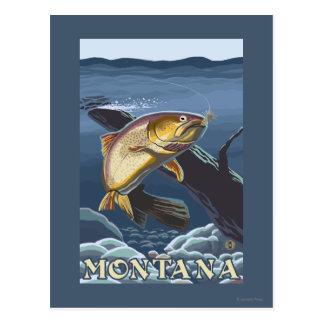 Forell som fiskar tvärsnittet - Montana Vykort
